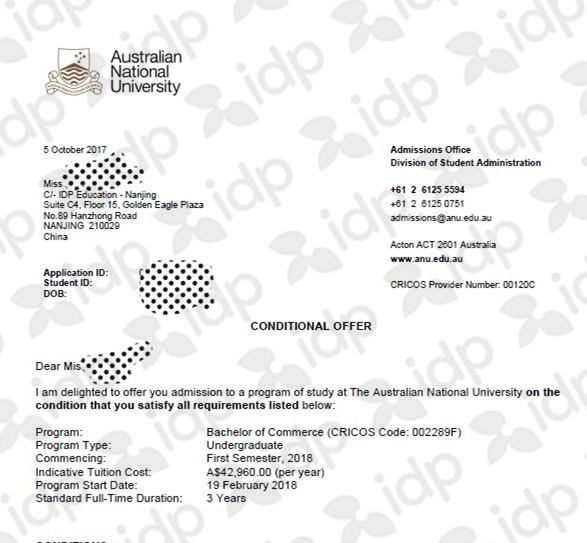 高考生申请英国失败转战澳洲 获第一名校offerjpg